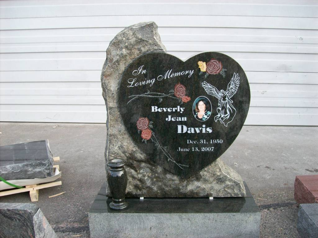 Heart Shaped Grave Marker Pacific Coast Memorials