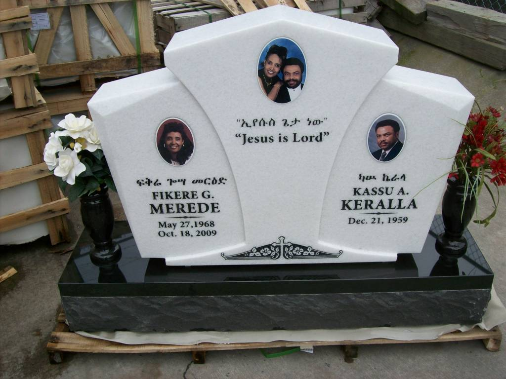 Crystal white upright grave marker with absolute black base ugm 116 upright grave marker in crystal granite reviewsmspy