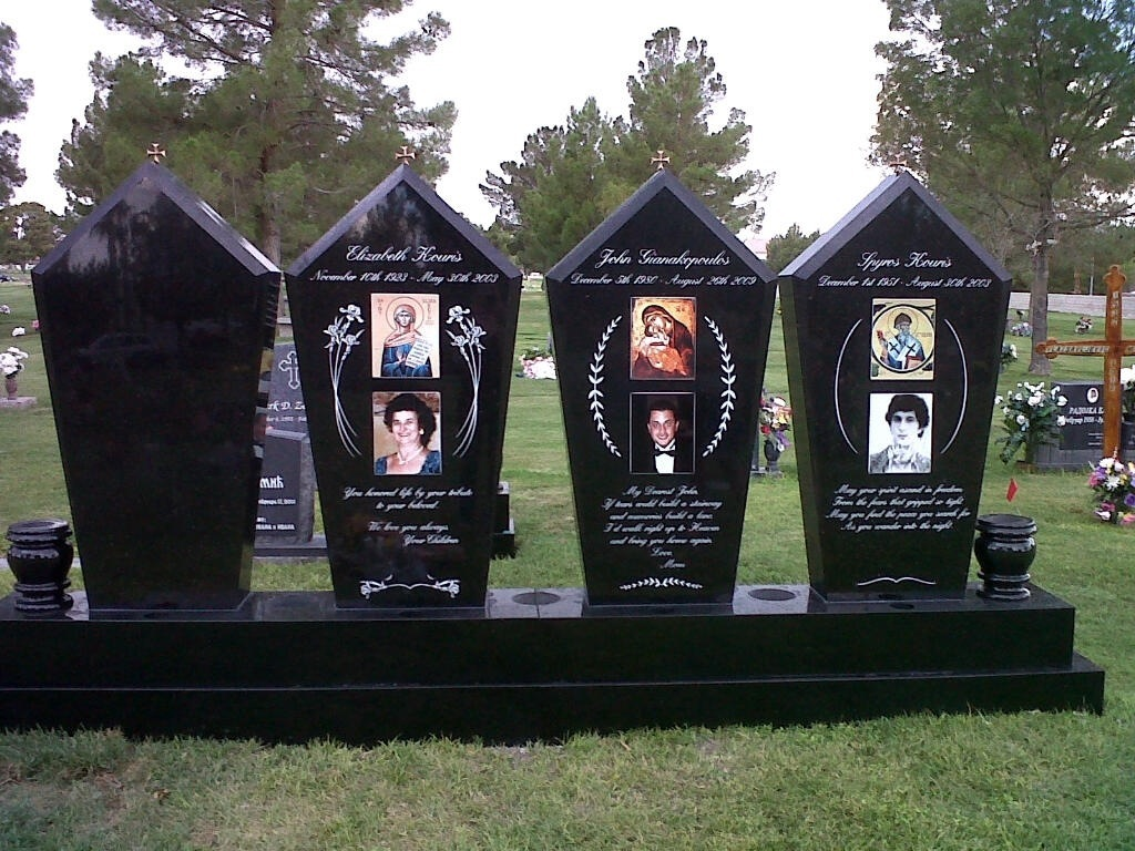 Custom Headstones For Family Plot Pacific Coast Memorials - Ceramic photo on headstone