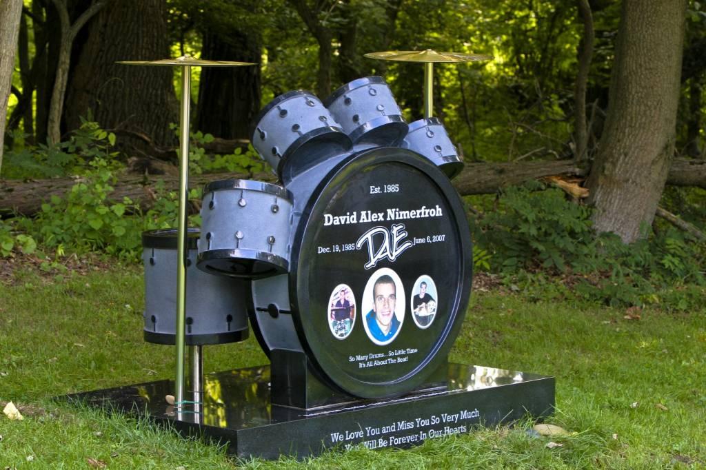 Custom Drum Set Grave Marker In Chester Springs Pa